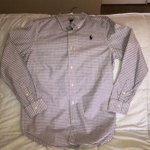 RL Polo.  Boy's size XL (18-20).  Navy/pink/white